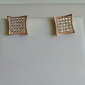 Jewelry - Rose Gold Plated Simulated diamond earrings